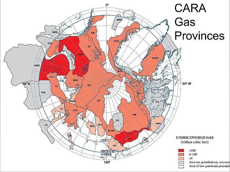 Потенциальные запасы газа Арктики