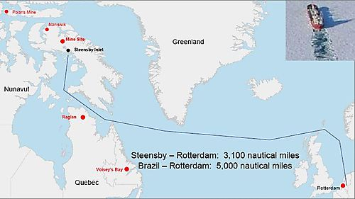 Mary River route to Europe