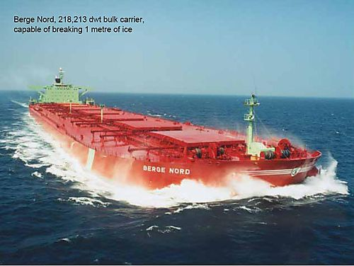 Mary River bulk carrier