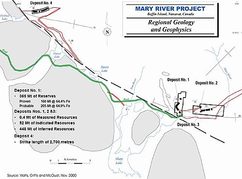 Mary River site plan