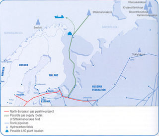 Shtokman map from Gazprom