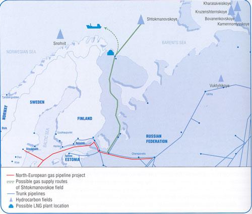 Shtokman map from Gazprom