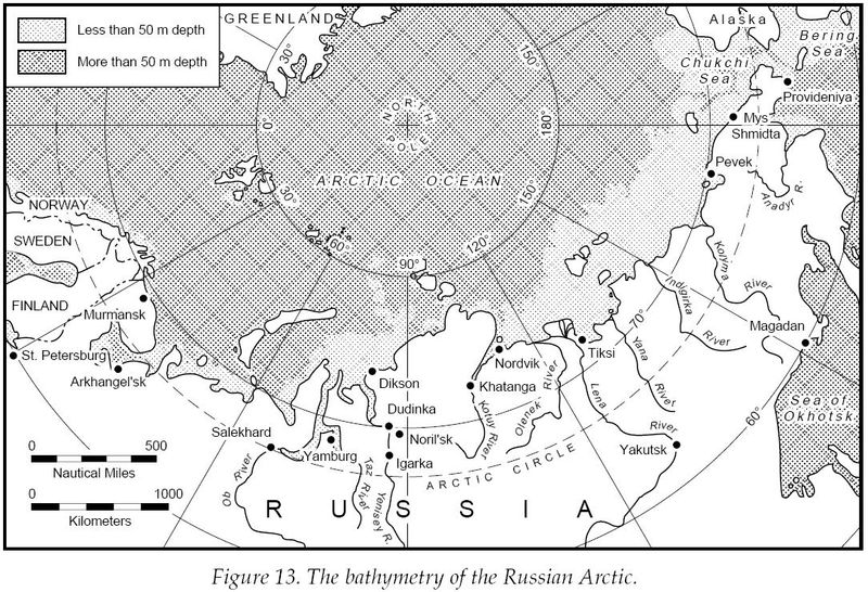 Bathymetry of the Russian Arctic