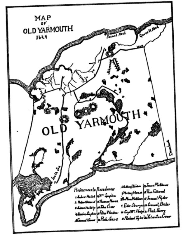Yarmouth map Swift 1644